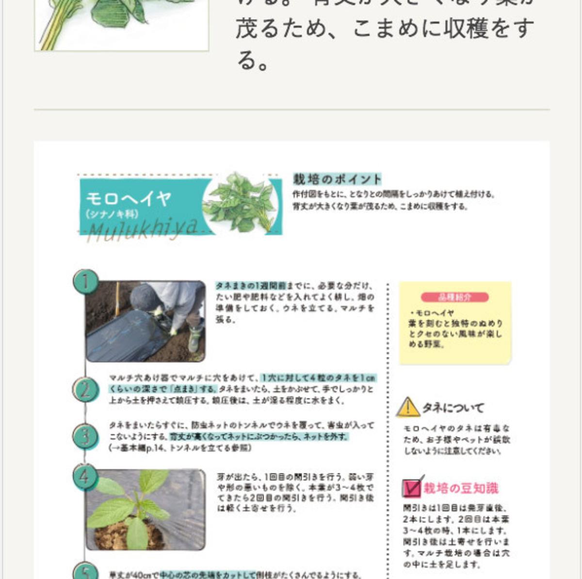 みんなの栽培記録:野菜づくりBOOK