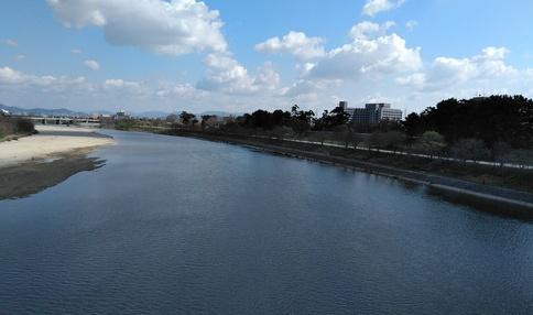 武庫川の直ぐ近く!