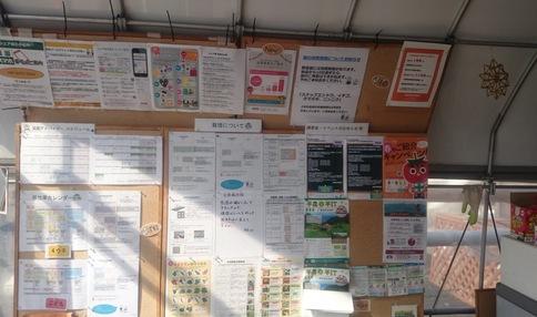 ハウス内の掲示板は情報満載です