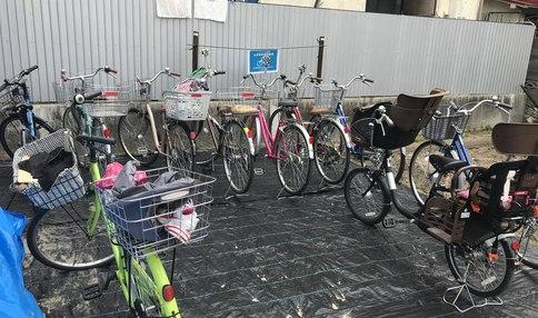 駐輪場もあるので自転車でお越しいただけます!