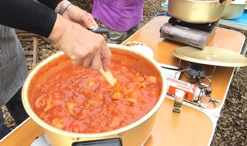 農園の野菜を使ったカレーイベント