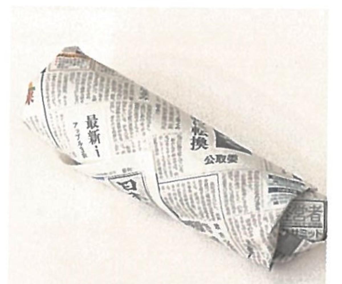 サツマイモは新聞紙に包んで保存